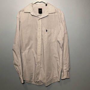 U.S. Polo Assn. Button Down Shirt Size Med 15-15.5